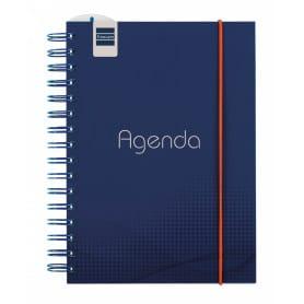Agenda Espiral Semana Vista Vertical Institut Blue 1/4 Finocam