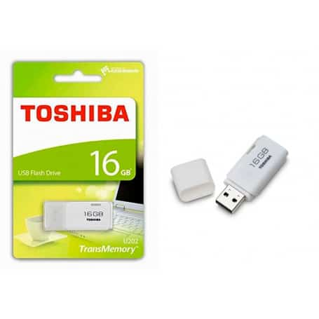 Pendrive Toshiba 16 GB 2.0 blanco