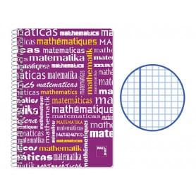 Cuaderno Folio Cuadriculado Matemáticas