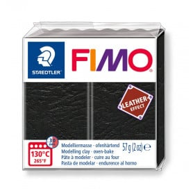 Fimo Leather-Effect Negro 909