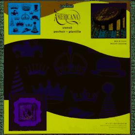 Plantilla Stencil 30,5x 30,5 cms Coronas/gorros