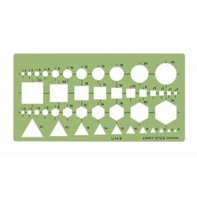 Plantilla Combinación Figuras Geométricas 1270S Linex