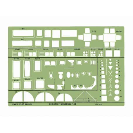 Plantilla Arquitectura Universal Linex 1259S Escala 1:50