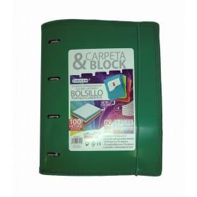 Carpeta & Block Anillas Cierre Goma ColorLine Office Box