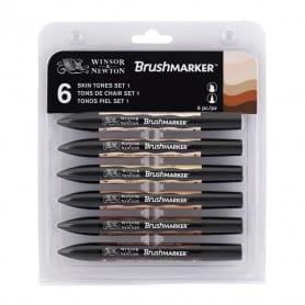 Set 6 Brushmarker Tonos Piel Winsor & Newton