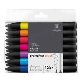 Set 12+1 Brushmarker Tonos Vibrantes Winsor & Newton