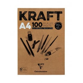 bloc-encolado-kraft-brun-90-gr-100-hojas-a4-clairefontaine