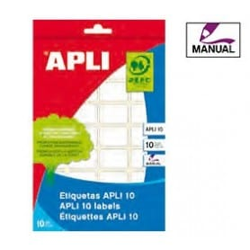 Etiquetas manuales Apli 1635 Medidas 12 x 18 mm