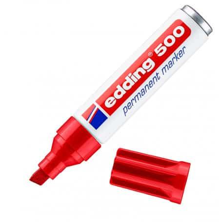 Rotulador Rojo Edding 500
