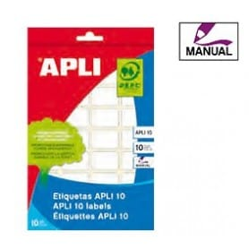 Etiquetas manuales Apli 1650 Medidas 34 x 53 mm