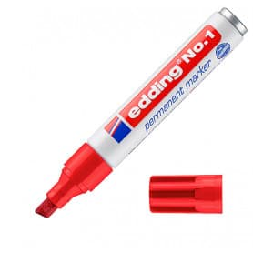 Rotulador Rojo Edding 1