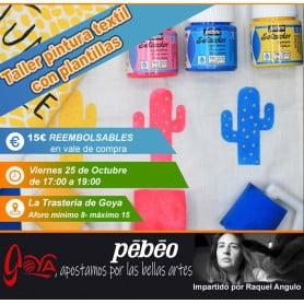 Curso de Pintura Textil 25 Octubre de 17:00 a 19:00h