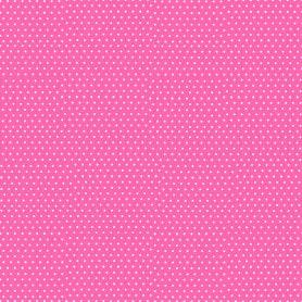Papel Regalo Rosa Topos Blanco