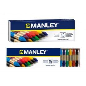 Caja 15 colores cera Manley