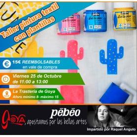 Curso de Pintura Textil 25 Octubre de 11:00 a 13:00h