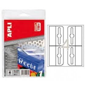 Colgadores autoadhesivos de plástico Apli 34 x 48 mm