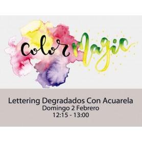 Lettering Degradados con Acuarela Domingo 12:15-13:00