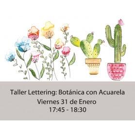 Botánica con Acuarelas Viernes 17:45-18:30