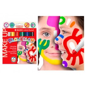 Set Maqujillaje Barra 6 Colores Básicos Playcolor