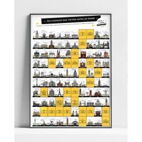 Lámina Rascable 100 Ciudades que Visitar