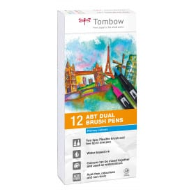 Dual Brush Rotuladores Pack 12 Colores Primarios Tombow