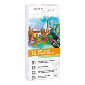 Dual Brush Rotuladores Pack 12 Colores Pastel Tombow