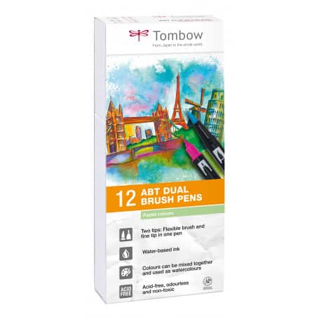 dual-brush-rotuladores-pack-12-colores-pastel-tombow-goya
