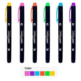 Rotulador Fluorescente Doble Punta Mono Edge Tombow