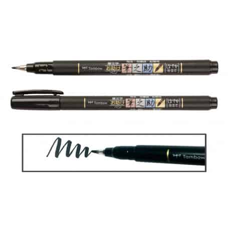 rotulador-punta-elástica-negro-fudenosuke-tombow-goya
