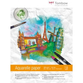 Papel Acuarela 24 x 32 cm 300 gr 15 hojas Tombow