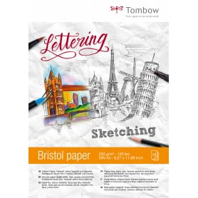 Papel Bristol Lettering A4 250 gr 25 Hojas Tombow