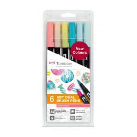 Dual Brush Rotuladores Pack 6 Colores Candy Tombow