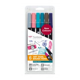 Dual Brush Rotuladores Pack 6 Colores Vintage Tombow