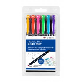 Pack 6 Rotuladores Fluorescentes Doble Mono Edge Tombow