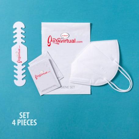 Set Higienizante con Mascarilla FFP2