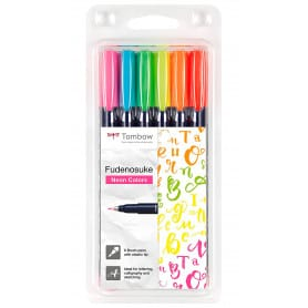 Rotulador Set Colores Neón Fudenosuke Tombow