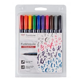 Rotulador Set 10 Colores Fudenosuke Tombow