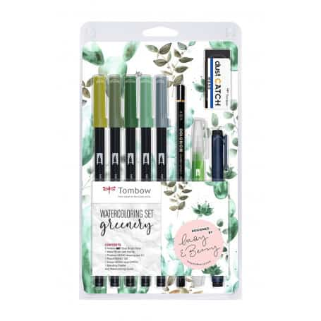 Set Rotuladores Acuarelables Greenery Tombow