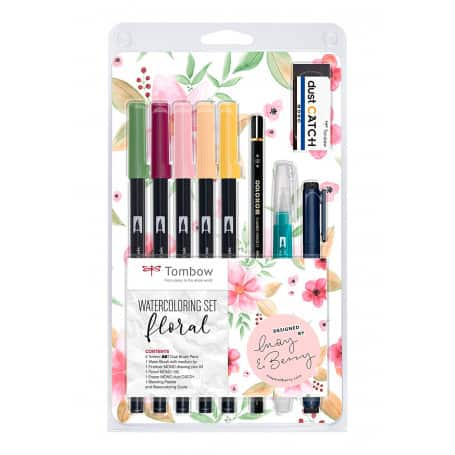 Set Rotuladores Acuarelables Floral Tombow
