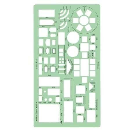 Plantilla casa cocina muebles linex 1130s escala 1 50 for Muebles a escala 1 50 para planos