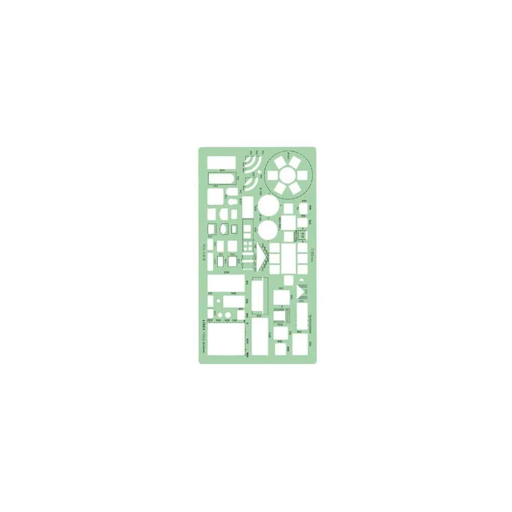 Plantilla casa Cocina Muebles Linex 1130S Escala 1:50