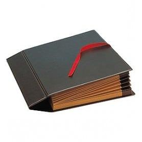 Clasificador fuelle PVC Folio Negro