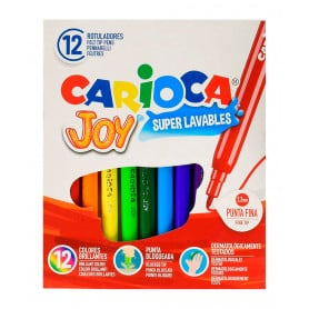 Rotuladores 12 colores Carioca Joy