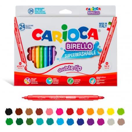 Rotulador SúperLavable Caja 24 colores Birello Carioca