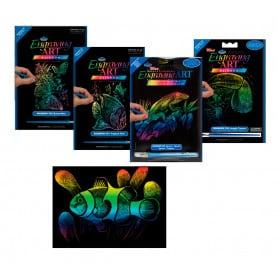 Set Grabado Preimpreso Fondo Arco Iris