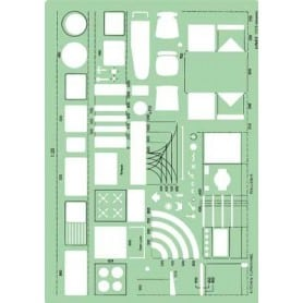 Plantilla muebles cocina Linex 1137S Escala 1:20