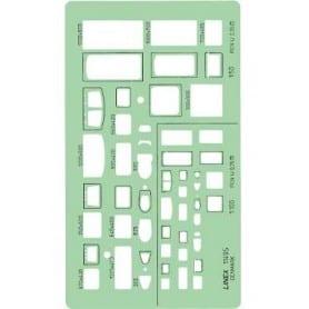 Plantilla Sanitaria Linex 1149S Escalas 1:50 y 1:100