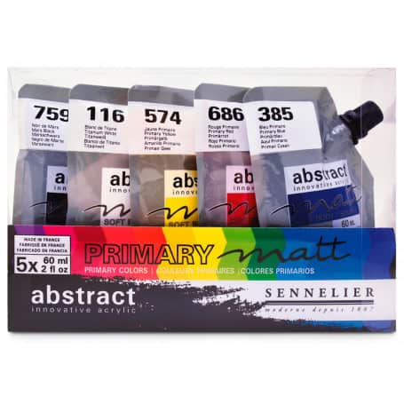 Set-Abstract-Matt-5-Colores-Sennelier-Goya