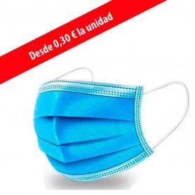 Mascarilla 3 Capas Desechable Azul
