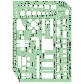 Plantilla de muebles Linex 1262S Escala 1:100